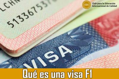 Qué es una visa F1